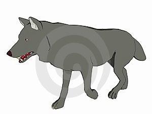 Cartoon Style Wolf Royalty Free Stock Image - Image: 5593036
