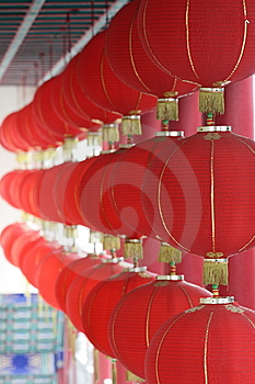 Red Lanterns Royalty Free Stock Photo - Image: 5593805