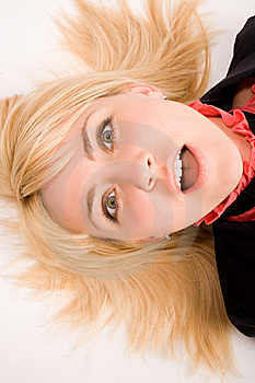Portrait Of Astonished Blond Woman Royalty Free Stock Photo - Image: 5595235