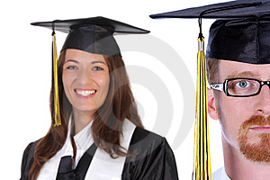 Graduation a young man Stock Photos