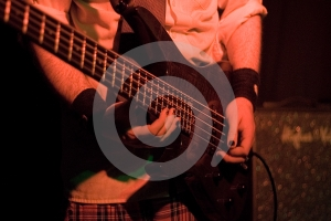 Guitarist (Front View) Royalty Free Stock Photos