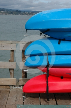 Sea Kayaks On A Pier Royalty Free Stock Photos - Image: 567878