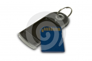SD And Black Keychain Royalty Free Stock Photography - Image: 568297