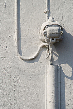 Overpaintet Cable Royalty Free Stock Image - Image: 5600246