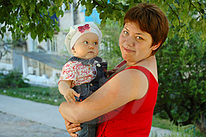 Little Girl And Mother. Stock Photos - Image: 5600833
