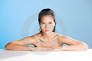 Fresh Clean Face Of Young Woman Royalty Free Stock Photos - Image: 5602408