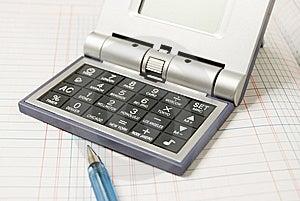 Calculator And Ballpen Stock Image - Image: 5603351