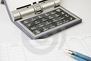 Calculator, Check, Ballpen Royalty Free Stock Photography - Image: 5603357