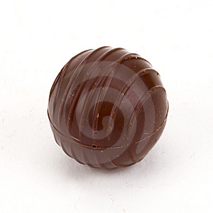 Single Chocolate Stock Image - Image: 5605101