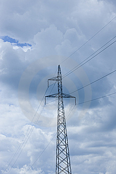 Power Lines Volts Royalty Free Stock Images - Image: 5605269