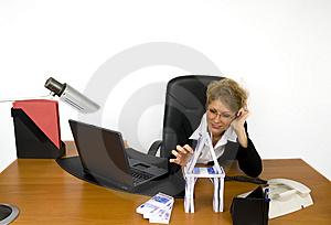 Boss At Work. Stock Images - Image: 5605424