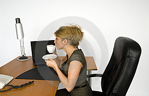 Businesswoman In Office. Royalty Free Stock Image - Image: 5605646