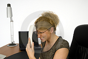 Businesswoman In Office. Royalty Free Stock Photography - Image: 5605657
