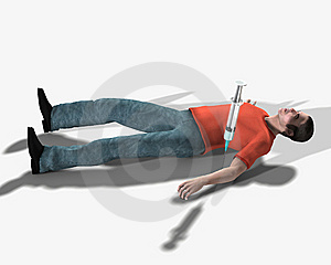 Drug Addict Dead From An Overdose Royalty Free Stock Photos - Image: 5607408