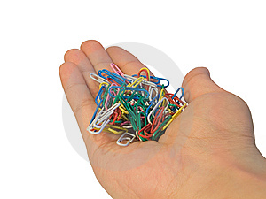 Paperclip In Hand Royalty Free Stock Photo - Image: 5608185