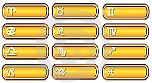 Horoscope Button Web Royalty Free Stock Photography - Image: 5608677