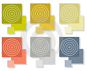Bullseye Tiles Squares Royalty Free Stock Photos - Image: 5613158