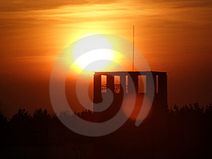 Sun Above The Tower Stock Images - Image: 5619714