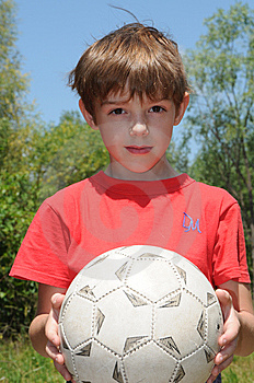 Boy With Ball Royalty Free Stock Image - Image: 5621476
