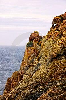 Rock In Seashore Stock Image - Image: 5621921