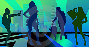 Females Shopping Stock Photo - Image: 5622220