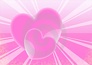 Hearts Beam Royalty Free Stock Images - Image: 5630579