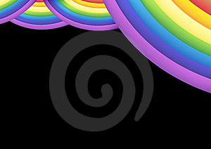 Rainbow Stage Curtain Royalty Free Stock Photo - Image: 5631705