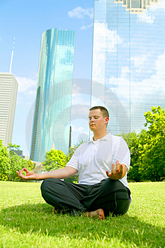 Downtown Meditate Stock Photography - Image: 5632322