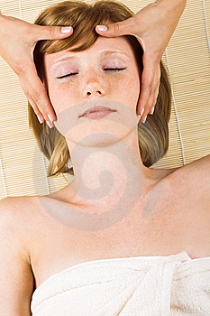 Woman getting a massage Royalty Free Stock Photography