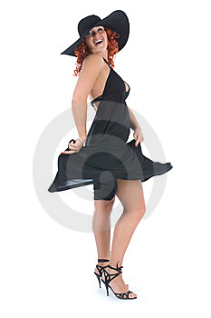 Young Woman In Black Dress Royalty Free Stock Photos - Image: 5633198
