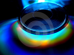CD/DVD Rainbow Close-up Royalty Free Stock Photography - Image: 5633777