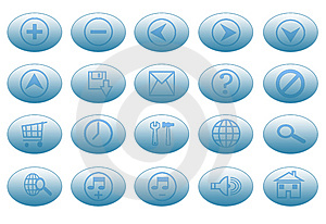 Blue Buttons Royalty Free Stock Photo - Image: 5634165