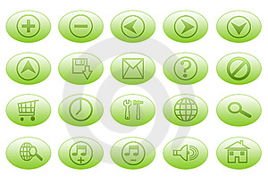 Green Buttons Royalty Free Stock Images - Image: 5634269