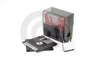 Boxed Diskettes Stock Images - Image: 5634324