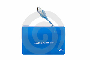 Blue USB Card Reader Stock Photography - Image: 5634672