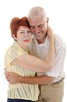 Laughing senior couple Stock Image
