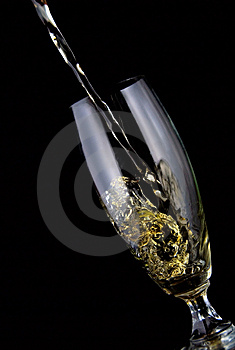 Hällt Exponeringsglas Av Wine Fotografering för Bildbyråer - Bild: 5637971