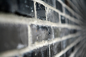 Black brick wall Royalty Free Stock Photos