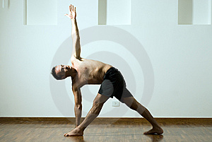 Man in a Yoga Pose - Horizontal Royalty Free Stock Photos