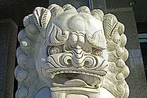 Stone Lions Stock Photos - Image: 5640883