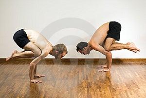 Two Men Balancing - Horizontal Royalty Free Stock Photo - Image: 5641075