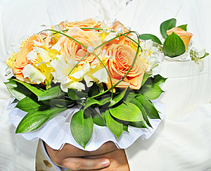 Groom With Bouquet Stock Photo - Image: 5642090