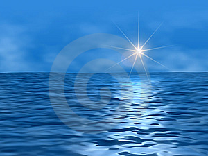 Ocean and sun Stock Images