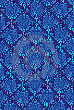 New Damask Style Pattern Stock Photography