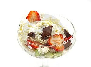 Ice cream and chocolate Royalty Free Stock Photo