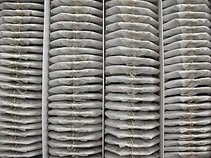 100 τσάντες τσαγιού Στοκ Φωτογραφία - εικόνα: 5646312