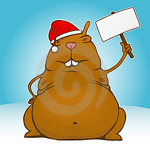 Fat Santa Rodent Stock Images - Image: 5646404