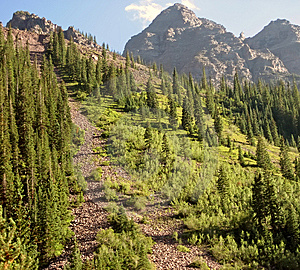 Steep Rocky Mountain Path Stock Image - Image: 5646691