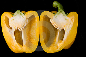 Beatiful Dissected Pimiento Royalty Free Stock Photography - Image: 5651477