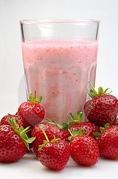 Strawberry milkshake Royalty Free Stock Photography